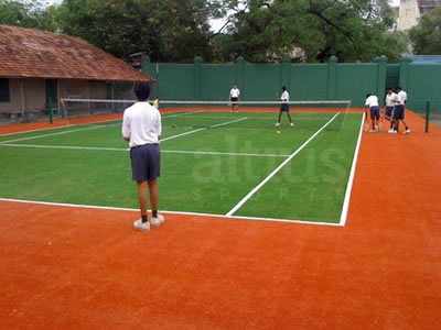 lawn tennis court in India
